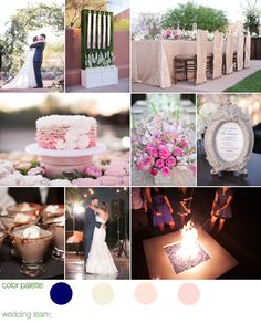 Phoenix, AZ Wedding - Navy, Champagne, Cream & Blush Wedding Color Ideas