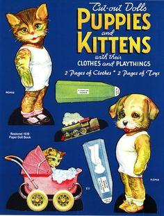 Paper Dolls~puppies n kittens - Bonnie Jones - Álbumes web de Picasa