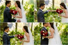 Bride and Groom first look - Barrie Wedding Photography