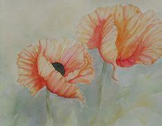 Watercolors, Poppies, Painting, Art, Kunst, Art Background, Water Colors, Painting Art, Watercolor Paintings