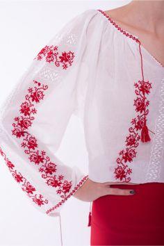 IA (cunoscută şi drept The Romanian Blouse) este, probabil, una dintre cele mai mari mândrii ale ţării noastre.  Colorată sau simplă, cu mâneci lungi sau scurte, face cinste României peste mări şi ţări. Ţie ce îţi aminteşte cel mai mult de poporul român?  #TheRomanianBlouse Pakistani Fashion Casual, Ethnic Fashion, Womens Fashion, Palestinian Embroidery, Folk Embroidery, Embroidered Clothes, Folk Costume, Crochet Cardigan, Fashion Pants