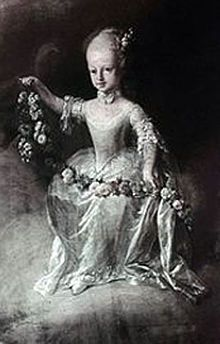 Maria Elisabeth of Austria (1737 - 1740). Daughter of Maria Theresa and Francis I .