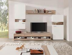 Nelson Wohnwand II Eiche/weiss matt #living #wohnzimmer