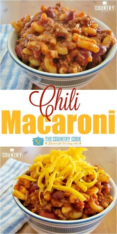 Chili Macaroni recipe from The Country Cook