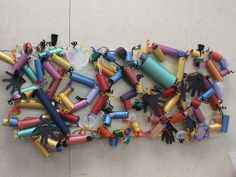 Finished Pipe Piper Recycled Art . Many great ideas in this site!