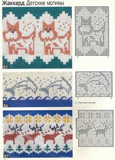 "Photo from album ""Burda special 1995 Все модные узоры on Yandex. Embroidery Patterns, Stitch Patterns, Knitting Patterns, Crochet Patterns, Fair Isle Chart, Fair Isle Pattern, Knitting Charts, Knitting Stitches, Manta Animal"