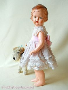 Antique German composition doll around 1920 by ShabbyGoesLucky, €180.00