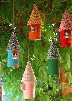 Decoración inspiradora: móviles que son casitas para búhos