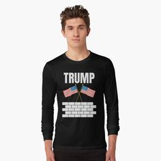 TRUMP 2020 election - Get yourself a funny custom desing from RIVEofficial Redbubble shop : )) .... tags: #president   #usa #donaldtrump  #funny #trump #buildawall #wall #humour #republican  #democrat #election #trump #2020 #findyourthing #shirtsonline #trends #riveofficial #favouriteshirts #art #style #design #nature #shopping #insidecollection #redbubble #digitalart #design #fashion #phonecases #access #customproducts #onlineshopping #accessories #shoponline #onlinestore #shoppingonline Female Models, Online Shopping, Long Sleeve Tees, Shirt Designs, Sleeves, Mens Tops, How To Wear, T Shirt, Cotton