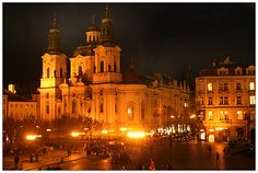 Old town square by night,.. Prague