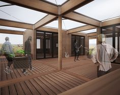 Texas/Germany Solar Decathlon 2015 House Rendering: Patio South