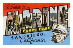 Greetings from Marine Corps., San Diego, California