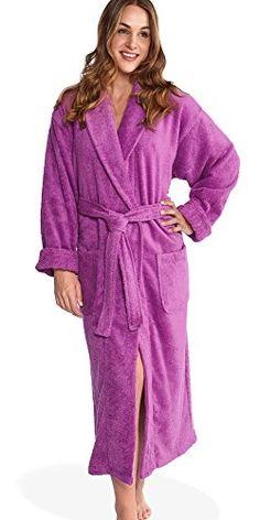 Women S Luxurious Terry Cotton Full Length Bathrobe Robe