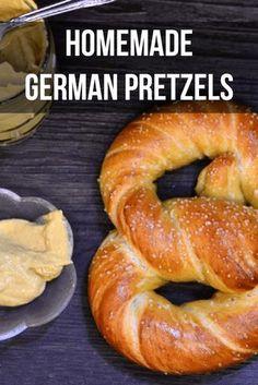 German Soft Pretzel Recipe, German Pretzels Recipe, Soft Pretzel Recipes, Easy Pretzel Recipe, Authentic German Pretzel Recipe, Bretzel Recipe, Homemade Soft Pretzels, How To Make Pretzels, Oktoberfest Food