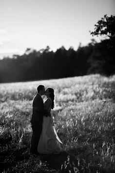 field portrait of a couple, black and white