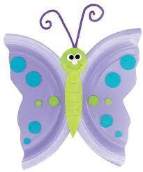 PLANETA ATIVIDADES: muitos modelos de borboletas feitas com reciclagem de prato descartável ou pratinho de papel!