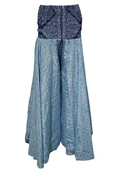 Women's Skirt Blue Floral Printed Vintage Sari Gypsy Long Skirts Mogul Interior http://www.amazon.com/dp/B017H003DY/ref=cm_sw_r_pi_dp_MHHCwb1X3Z44E