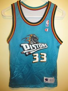 20b9e01fa Vintage NBA Champion Jerseys · Grant Hill - Detroit Pistons Home away  reversible Jersey - Champion youth medium  Champion