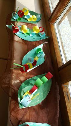 Caterpillars Crafts Spring Kids Nursery Creative Avec Crafts For Spring - Bastelideen - Kleinkind Kindergarten Portfolio, Kindergarten Art Projects, Art For Kids, Crafts For Kids, Arts And Crafts, Diy Crafts, Caterpillar Craft, Creative Activities For Kids, Creative Kids