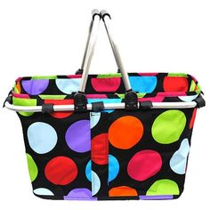 Multi Color Polka Dot Market Tote with Free by MonogramExpress