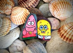 Sponge Bob and Patric - best friends forever!!! This guys are waiting for you! They always together and you must buy both of them! ;)) if you want to make a present for you friend- this is the best idea! ;) - Sponge Bob and Patric can be used for decoration your home or you can present him to dear friend :)) - It measures roughly Sponge Bob: 1.8 x 1.0 (4,5 x 2,6 cm) and Patric: 1.9 x 1.4 (5 x 3,5 cm). The rock has been painted with colorful acrylic inc and sealed with a matte varnish t...