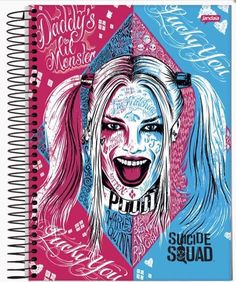 New Suicide Squad notebook designs feauturing Harley Quinn