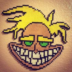 Freaky Fred - Courage the Cowardly Dog perler beads by  marie_erzsebet