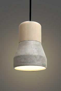 Toro Concrete Wooden Minimalist Pendant Light