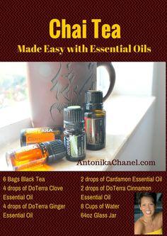 Chai Tea recipe with essential oils