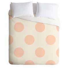 Jacqueline Maldonado Vintage Dot Pale Peach Duvet Cover   DENY Designs Home Accessories