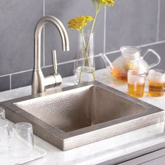 Native Trails Manhattan CPS32 Drop In Bar Sink Brushed Nickel - CPS532