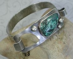 Sterling Silver and Turquoise Cabochon by SilverSeahorseDesign, $75.00