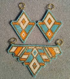 Beautiful Tribal Pendant with Matching Earrings