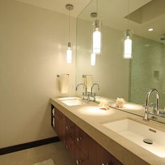 Bathroom Low Ceiling Vanity Lighting Design, Pictures, Remodel, Decor and Ideas - page 3