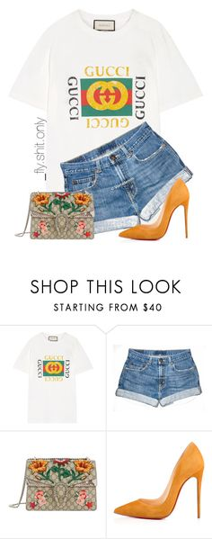 """""""Untitled #2293"""" by flyyshitonly ❤ liked on Polyvore featuring Gucci and Christian Louboutin"""