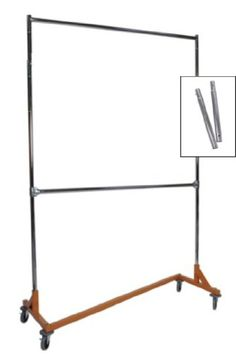 Extended Height Double Rail Rolling Z Rack Garment Rack with Orange Base Metropolitan Display http://www.amazon.com/dp/B0061384W6/ref=cm_sw_r_pi_dp_yNyWvb0XSN81X