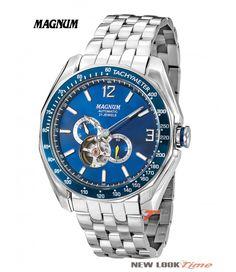 04270d0c130 Relógio masculino automático da Magnum MA33951F Relojoaria New Look Time R   678