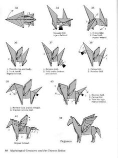 Diagram Cara Membuat Origami Pegasus How To Make
