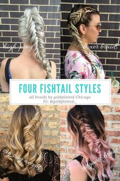 fishtail braided hairstyles, 4 ways | hair by goldplaited | back to school hairstyles