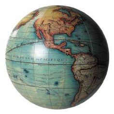 Vaugondy colour globe 14cm