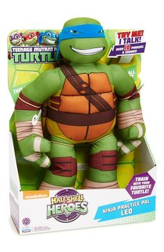 Playmates TOYS 'Teenage Mutant Ninja Turtles - Ninja Practice Pal' Talking Stuffed Animal