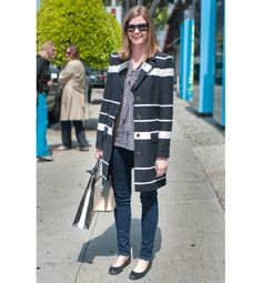 California Cool  While L.A. has a rep for catering to more casual dressing, it isn't all denim and tanks. We've found 12 Angelenos who've taken California favorites like nautical stripes and frothy scarves and added their own playful spins on these breezy trends. –Zoe Schaeffer    A menswear element like an oversize blazer adds edge to a feminine blouse and skinny jeans. Stray from the usual gray hue and opt for a bold striped or printed version.