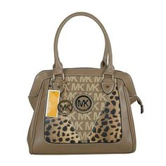 Perfect Michael Kors Logo Signature Leopard Large Brown Totes, Perfect You