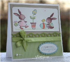 "love, love, love this layout for a cute ""scene"" card! would be a cute layout for my TAC stamps"