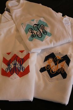 Monogrammed Pocket TShirt by UniqueTweakz on Etsy, $24.00
