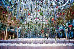 """Flower Magazine's article on London artist Rebecca Louise Law and her """"skies of flowers"""" installations."""