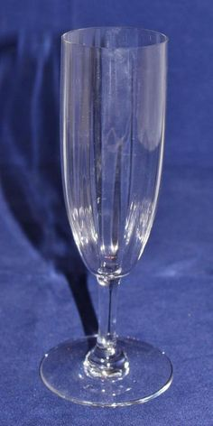 """Baccarat French Crystal MONTAIGNE OPTIC Champagne Flute 6 7/8"""" Tall"""