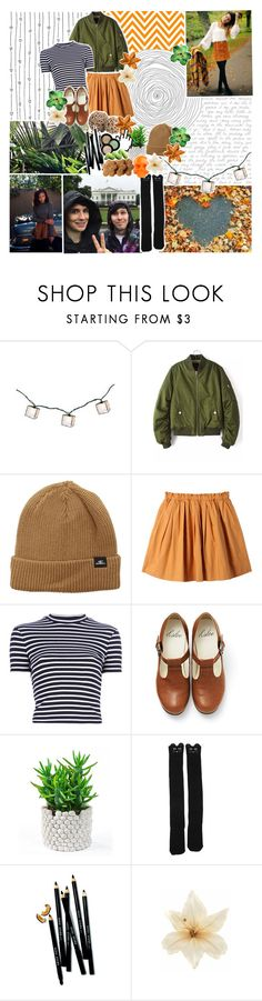 """""""♡ things have gotten closer to the sun"""" by tightrope-of-weird ❤ liked on Polyvore featuring O'Neill, Uniqlo, T By Alexander Wang, Crate and Barrel, Bobbi Brown Cosmetics, Clips and D.L. & Co."""