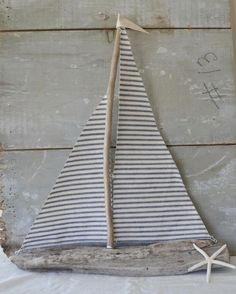 déco bord de mer à fabriquer- voilier en bois flotté superbe