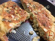 Receita de omelete de talos de couve. Saudável e deliciosa!